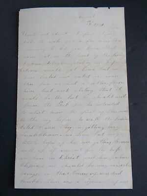 "1861 CIVIL WAR LETTER - 27th INDIANA REGIMENT - ""INDIAN KILLED TWO MEN"""