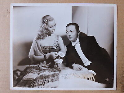 Mary Parker and Billy Daniel playing card original portrait photo 1939 Paramount