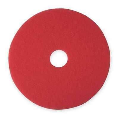 3M 5100 Buffing and Cleaning Pad, 20 In, Red, PK 5