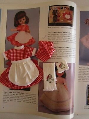 Vintage Tiny Betsy McCall REPRO of #9201 Little Cook w/Santa Towels!