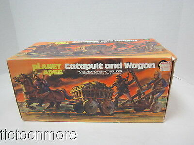 VINTAGE MEGO PLANET OF THE APES MOVIE CATAPULT & WAGON PLAYSET No 50911 1967 MIB