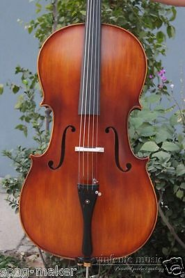 New 5 string cello Spruce top  Back Ebony Parts 4/4 Powerful Sound
