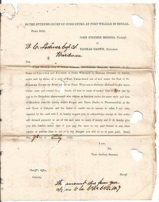 1850 JJ Mackenzie ask C Lochner hand over CoRs655 of Livery Stable Keeper