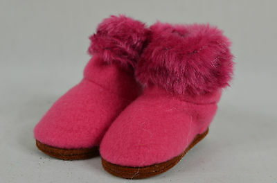 Pink Boots with Fur Christmas Tree Ornament new winter snow shoes