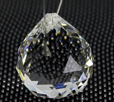 10X Clear Lead Crystal Ball for Suncatcher 45x40mm