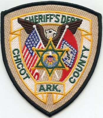 CHICOT COUNTY ARKANSAS AR state flag SHERIFF POLICE PATCH