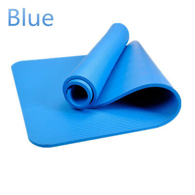 Blue EVA Non-skid Exercise Fitness Lose Weight Yoga Mat Sleep Pad 6mm Thick