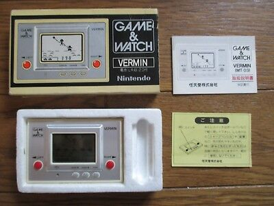 NINTENDO GAME AND & WATCH Vermin 1980 JAPAN Complete w/ BOX & MANUAL Boxed