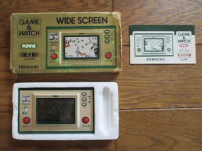 NINTENDO GAME AND & WATCH Popeye Wide Screen 1981 JAPAN Complete w/ BOX & MANUAL