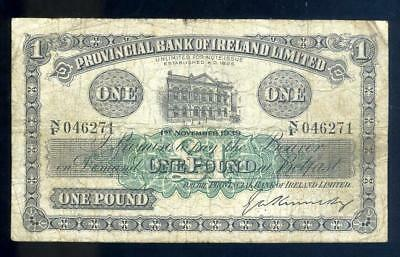 1939 Northern Ireland Belfast One Pound Banknote - NF 046271