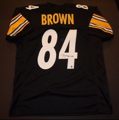 Antonio Brown Pittsburgh Steelers Autographed signed Black Style Jersey w/coa,.+