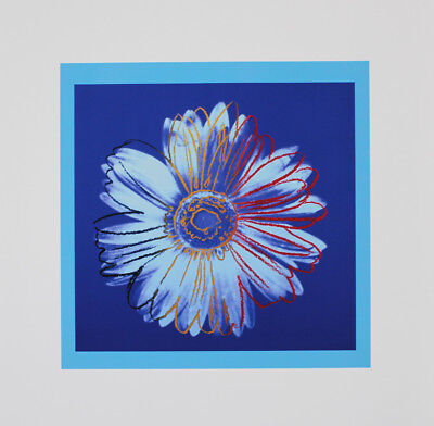 Andy Warhol - Daisy, blue on blue