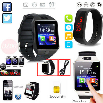 DZ09 Reloj Inteligente Bluetooth para Android HTC Samsung iPhone IOS Cámara SIM