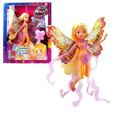 World of Winx - Dreamix Fairy Doll - Stella 28cm with Magical Robe