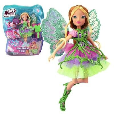 Winx Club - Butterflix Fairy - Flora Doll 28cm with Magic Robe