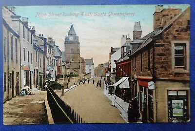 South Queensferry High Street Looking West. Edwardian Postcard 1909.