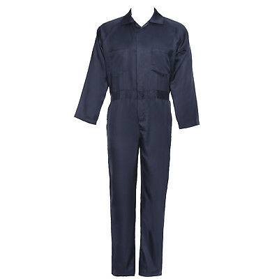 Mechanics Student Adults Navy Blue Coverall Overall Boiler Suit Workwear