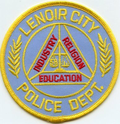 LENOIR CITY TENNESSEE TN Industry Religion Education POLICE PATCH