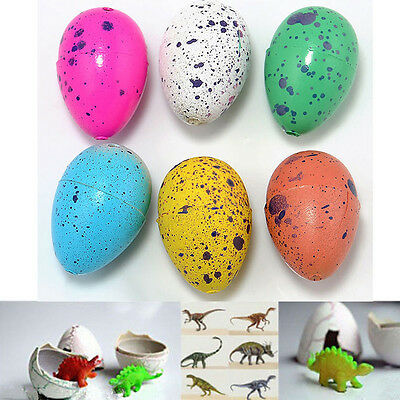 6x Child Water Hatching Inflation Growing Dinosaur Animal Eggs Kids Novelty Toys
