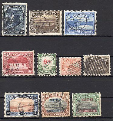 AUSTRALIA , TASMANIA , CANADA , GUIANA and more , nice lot OLD STAMPS , LOOK !