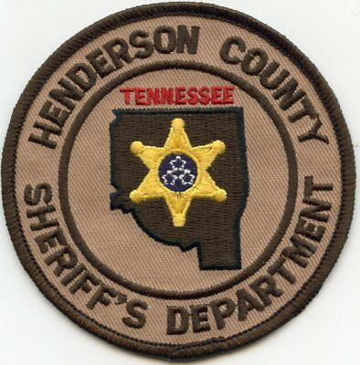 Henderson County Tennessee Tn Sheriff Police Patch