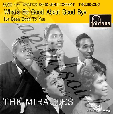 60S R/b Motown Fontana The Miracles Whats So Good About Good Bye  Picture Sleeve