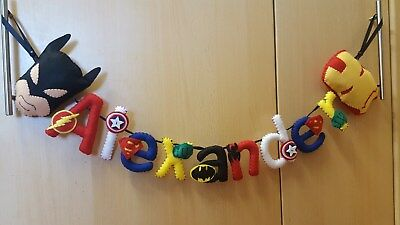 DC/Marvel Superhero Themed Handmade Personalised Name Banners