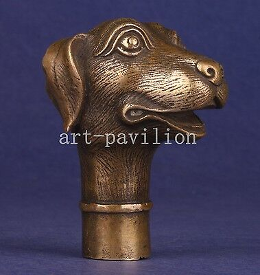 Bronze Statue Dog Figurines Cane Walking Stick Head Handles Collectable