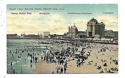 """ATLANTIC CITY, NJ"" - Beach Front showing Hotels"