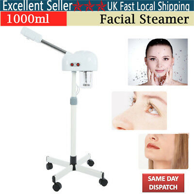 Stand Facial Steamer Aroma Moisture Beauty Mist Ionic Digital Ozone SPA CE/wheel