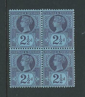 SG201 Block of 4 QV 2½d Jubilee unmounted MINT stamps.