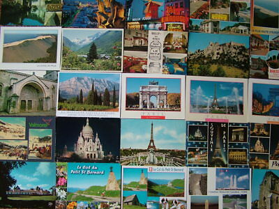 100 Unused Postcards of FRANCE.  Good condition. 1960's onwards.