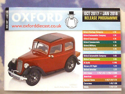 Oxford Diecast 48 Page Pocket Catalogue October 2017 To January 2018 Releases