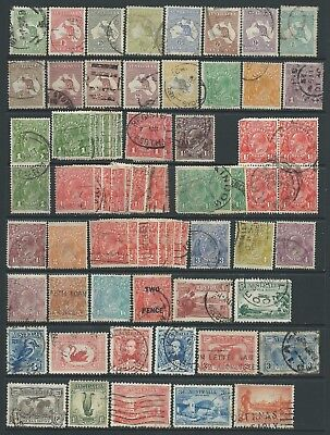 3 scans-Collection of mostly good used Australia stamps.