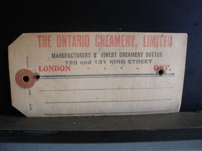 The Ontario Creamery Ltd London Ont. Tag C1-13