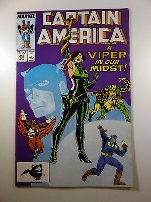 """Captain America #342 """"A Viper In Our Midst!"""" Beautiful VF Condition!!"""