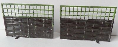 BRITAINS PRE-WAR PAINTED LEAD MINIATURE GARDEN 2 No018 INTERLACED FENCES