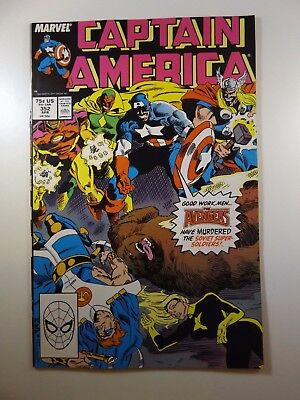 Captain America #352 Guest Starring The Avengers!! Beautiful VF-NM Condition!!