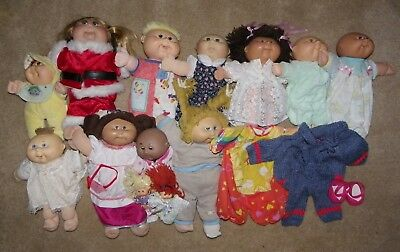 Vntg Lot 11 Cabbage Patch & 2 Mini Baby Dolls 1982-2004 Xavier Roberts First Ed