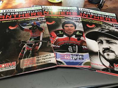 Peterborough Panthers--Speedway Home Programmes From The 2017 Season X 3