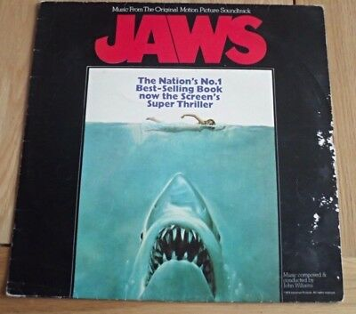 Jaws - Original Soundtrack LP Vinyl Album Original - MCA MCF 2716 - 1975