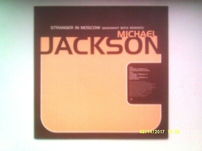 "Michael Jackson Stranger In Moscow ( Remixes ) 12"" Promo Single 1996 N/mint"