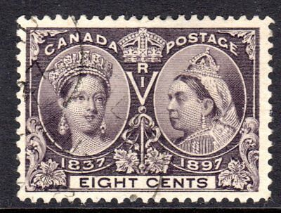 Canada QV 1897 Jubilee 8c Slate Violet SG130 Used