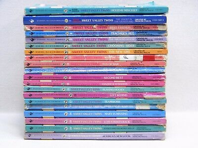 LOT of 20 SWEET VALLEY TWINS Books Vintage Francine Pascal 1980's 1990's