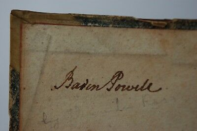 Baden Powell - School Book Owned By Him - Boy Scout