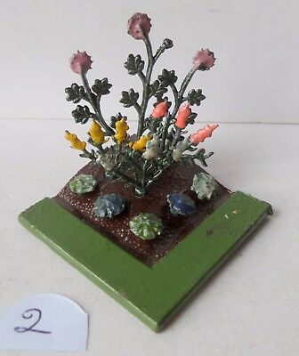 BRITAINS PRE-WAR PAINTED LEAD GARDEN No06 FLOWER BED+NINE FLOWERS lot 2
