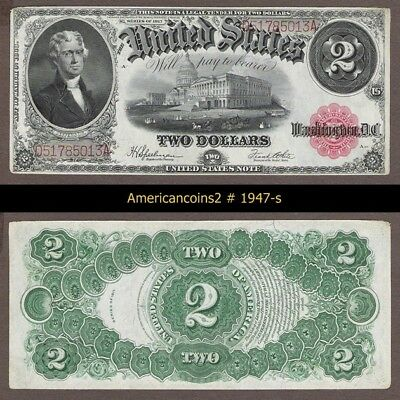$2 1917 Red Seal FR 60 UNC #1947