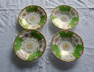 Set of 4 Gorgeous Demitasse Coalport Coffee Saucers - No cups