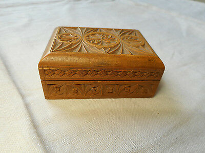 Wooden Hand-carved Stamp Box