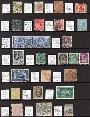 British Commonwealth Early Stamps on Hanger Sheet (Spacefillers) Cat £1000+